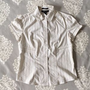Style & Co. - White Stripe Button-Down Top
